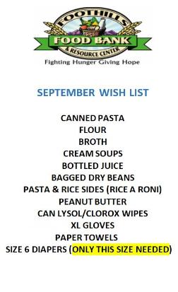 Food Bank Sept